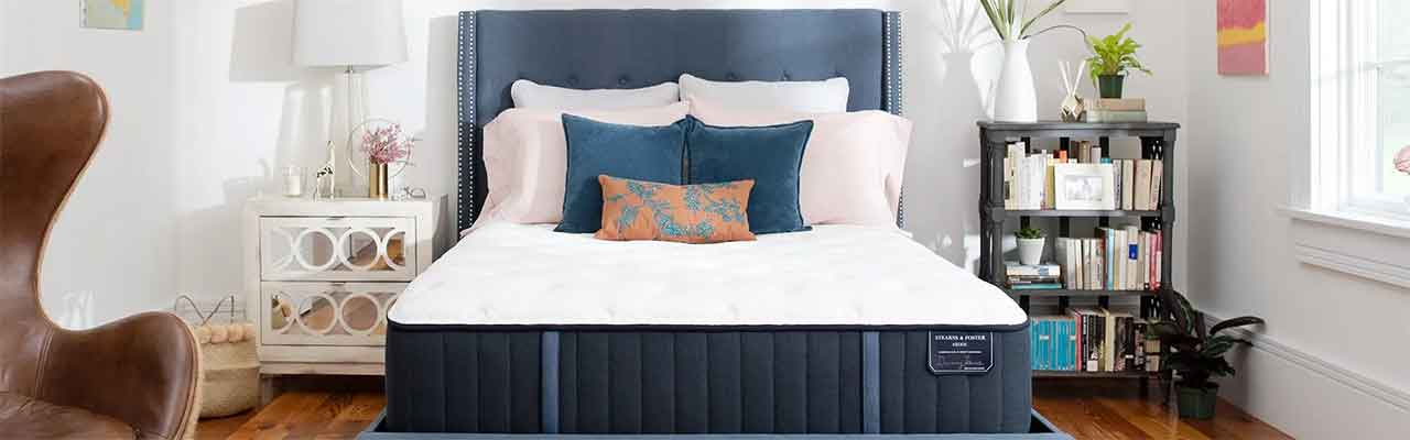 the estate collection is the entry pricepoint to stearns and foster brand its cover a tencel blend so it keeps cool under covers layer of stearns foster40 foster