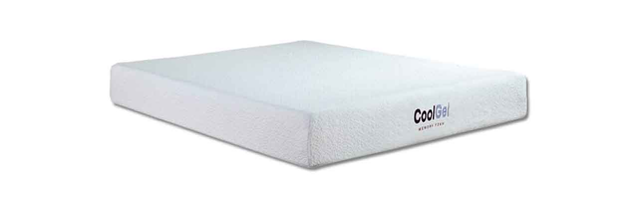 hampton and rhodesu0027 memory foam mattress is the 8u0027u0027 cool gel mattress the 8u0027u0027 cool gel mattress has a top layer of cooling gel that dissipates heat