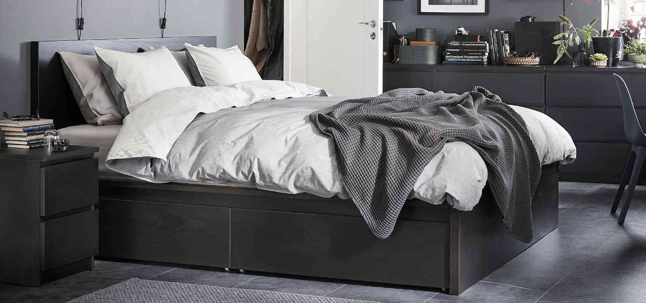 Best Ikea Storage Beds 2021 Ranks, Ikea Malm Black Brown Queen Size Bed Frame